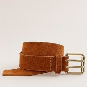 J. Crew Double Prong Suede and Leather Belt, Small